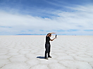 16 - Playing in the Uyuni Salt Lake