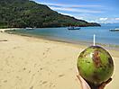 15 - Enjoying Coconut Water in Ilha Grande