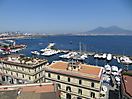 2 - Naples Harbor with Mt Vesuvius in the Background