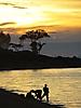 9 - Washing Clothes at Sunset, Likoma Island