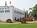 38 - Monks Praying at Maya Devi Temple, Lumbini