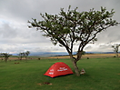 22 - Camping in Drakensberg near Amphitheater Mountains