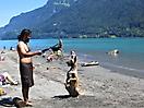 8 - Sal Playing by a Lake in Interlaken