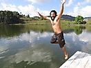 12 - Sal Jumping into Lake Bunyonyi