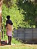 8 - Woman Carrying Baby in Bulawayo